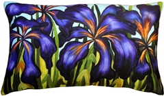 Purple Irises 12x20 Throw Pillow