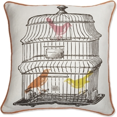Thomas Paul The Bird Cage 20x20 Throw Pillow