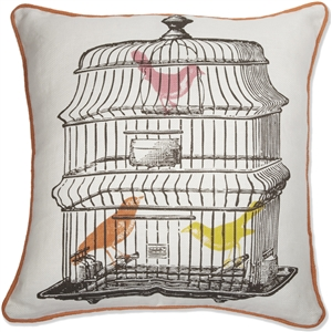 Thomas Paul The Bird Cage 18x18 Throw Pillow