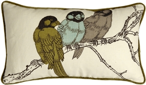 Thomas Paul Yokohama Birds 12X20 Throw Pillow