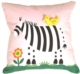 Zooey the Zebra Children's Throw Pillow