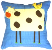 Clara the Cow Children's Throw Pillow