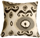 Bold Gray Ikat 20x20 Decorative Pillow