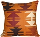 Tribal Orange 22x22 Decorative Pillow