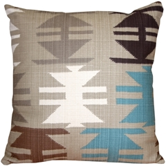 Tribal Taupe 22x22 Decorative Pillow