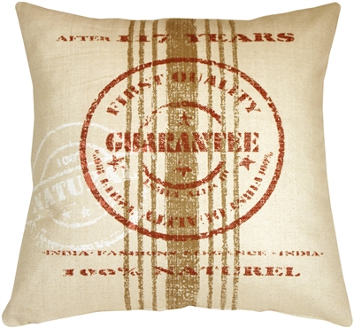 Quality Guarantee Red Print Throw Pillow