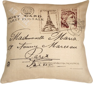 Postcard to Paris 24x24 Throw Pillow