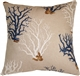 Blue Coral 21x21 Decorative Pillow