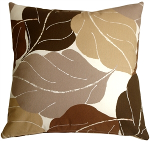Autumn Leaves 20x20 Brown Throw Pillow