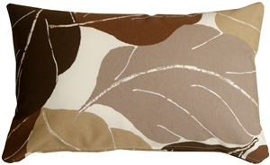 Autumn Leaves 12x20 Brown Throw Pillow
