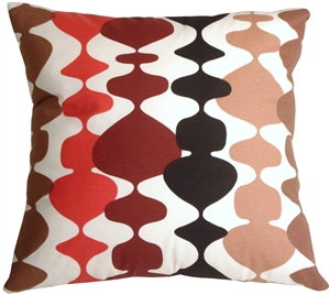 Lava Lamp Red 20x20 Throw Pillow