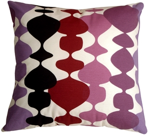 Lava Lamp Purple 20x20 Throw Pillow
