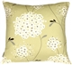 Vintage Bloom Green 22x22 Throw Pillow