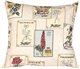 Vintage Seed Packet 20x20 Throw Pillow