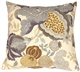 Harvest Floral Blue 20x20 Throw Pillow