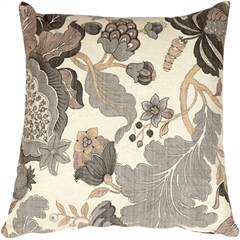 Harvest Floral Gray 20x20 Throw Pillow
