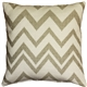 Lorenzo Zigzag Cream 20x20 Throw Pillow