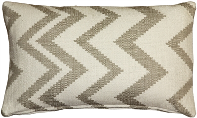 Lorenzo Zigzag Cream 12x20 Throw Pillow