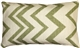 Lorenzo Zigzag Green 12x20 Throw Pillow