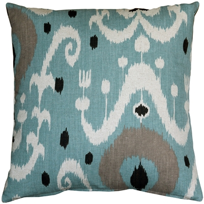 Indah Ikat Blue 20x20 Throw Pillow