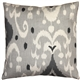 Indah Ikat Gray 20x20 Throw Pillow