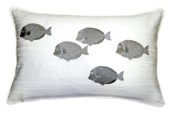 Silver Fish 14x20 Throw Pillow