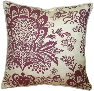 Rustic Floral Purple 20x20 Throw Pillow