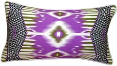 Electric Ikat Purple 15x27 Throw Pillow