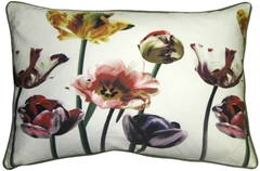 Blooming Tulips 16x24 Throw Pillow