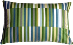 Waverly Side Step Marine 16x24 Throw Pillow