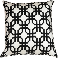 Waverly Groovy Grille Licorice 22x22 Throw Pillow
