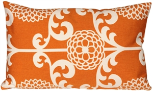 Waverly Fun Floret Citrus Orange 12x20 Throw Pillow