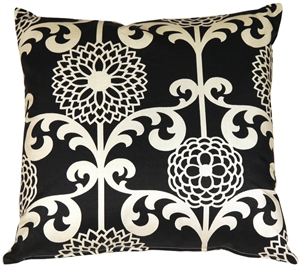 Waverly Fun Floret Licorice 20x20 Throw Pillow