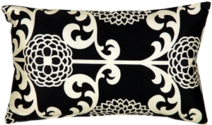 Waverly Fun Floret Licorice 12x20 Throw Pillow