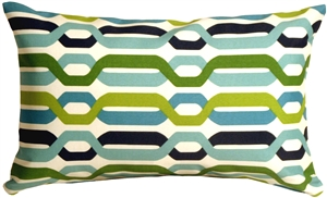 Waverly New Twist Aquarium 12x20 Outdoor Pillow