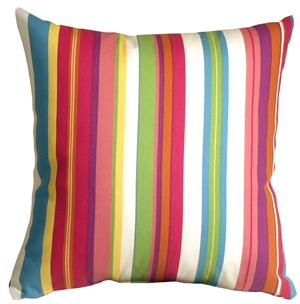 Waverly Sidewalk Stripe Cancun 20x20 Outdoor Pillow
