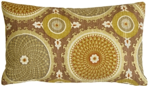 Bohemian Medallion Mulberry 12x20 Throw Pillow