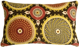 Bohemian Medallion Fiesta 12x20 Throw Pillow