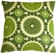 Bohemian Medallion Jade 20x20 Throw Pillow