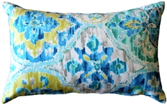 Ali Baba Blue Outdoor Throw Pillow 12x20