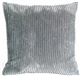 Wide Wale Corduroy Dark Gray 22x22 Throw Pillow