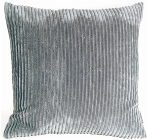 Wide Wale Corduroy Stone Gray 22x22 Throw Pillow