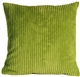 Wide Wale Corduroy 18x18 Apple Green Throw Pillow