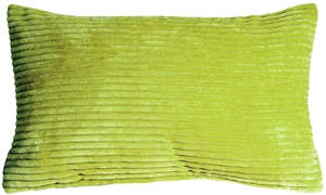 Wide Wale Corduroy Apple Green 12x20 Throw Pillow
