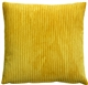 Wide Wale Corduroy 22x22 Golden Yellow Throw Pillow