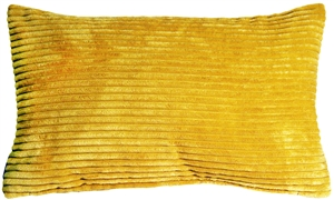 Wide Wale Corduroy Golden Yellow 12x20 Throw Pillow