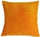 Wide Wale Corduroy Tangerine Orange 22x22 Throw Pillow