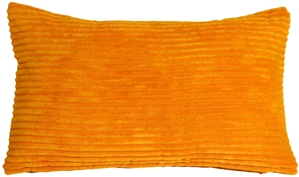 Wide Wale Corduroy Tangerine Orange 12x20 Throw Pillow