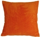 Wide Wale Corduroy 18x18 Papaya Orange Throw Pillow