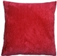 Wide Wale Corduroy Raspberry Red 18x18 Throw Pillow
